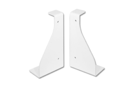 PAIR OF WALL-MOUNTED BRACKETS