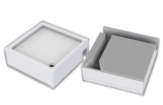 SELF-SUPPORTING RAISED SHOWER TRAY 78X81 DP40