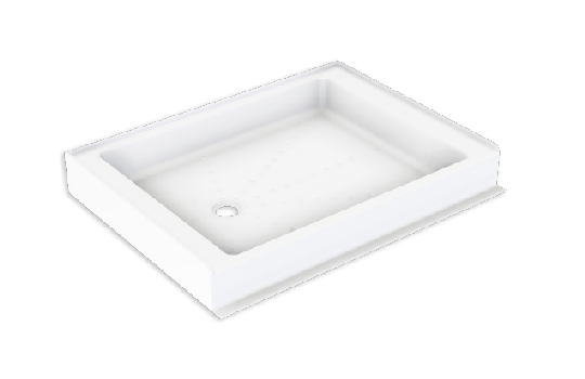 RAISED CORNER SHOWER TRAY DP39 1045X935