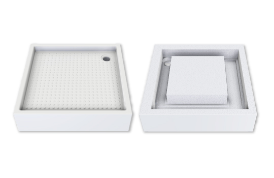 SELF-SUPPORTING RAISED SHOWER TRAY DP39